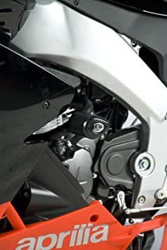 2011- R/&G Aero Crash Protectors in Black to fit an Aprilia RS4 125