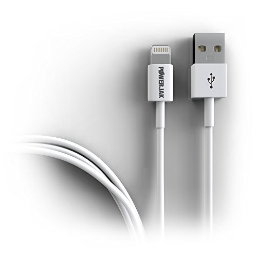 Quality Certified Lightning to USB Cable - 3.3 ft. Apple Original Premium White Charger Cord- 8 Pin Rapid Charge & Data Sync- For iPhone 6/6+/5s/5c/5/ iPad-Air-Mini/iPod Touch-Nano + PowerJak Promise!