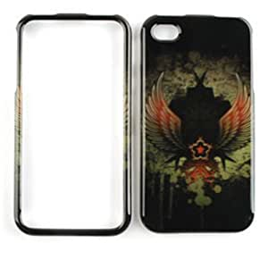 Cell Armor Snap-On Case for iPhone 4/4S - Retail Packaging - Trans. Design, Dark Creature with Wings by mcsharks