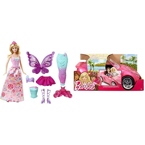 Barbie Fairytale Dress Up [Amazon Exclusive] AND Barbie Glam Convertible