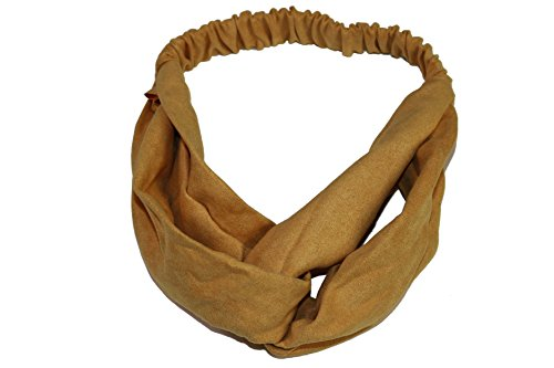 Price comparison product image OLLIE ARNES Women's Cute Trendy Elastic Headband Various Style Bandana SUEDE_MUSTARD OS
