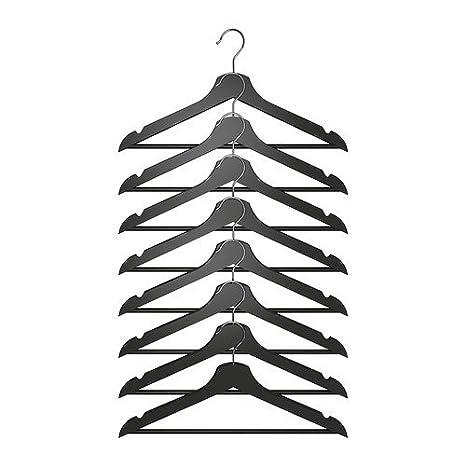 Ikea - Percha estándar, 43 cm de Ancho, Color: Negro ...