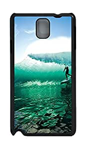 Samsung Note 3 Case Wave Surfing PC Custom Samsung Note 3 Case Cover Black