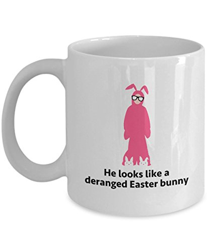 [Christmas Story Ralphie Bunny Costume Funny Gift Mug Movie Quote Coffee Cup] (Ralphie Easter Bunny Costume)