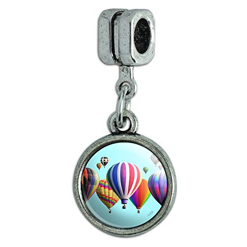 GRAPHICS & MORE Hot Air Balloons Lined Up Italian European Style Bracelet Charm Bead
