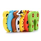 Meowoo Door Stopper,7 Pack Animal Foam Finger Pinch Guard Prevent,Protect Baby Safety Child
