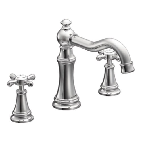 Moen Ts22101 Weymouth Two-Handle High Arc Roman Tub Faucet Trim only, Chrome