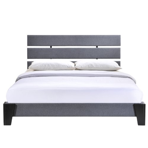 amazoncom modway zoe bed frame queen gray kitchen dining