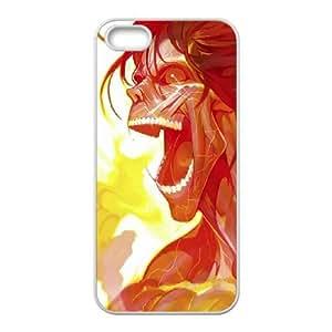 Shingeki No Kyojin Eren Yeage iPhone 4 4s Cell Phone Case White phone component AU_543121