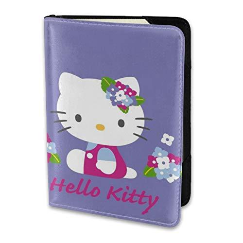 Passport Holder Cover Case Purple Hello Kitty ()