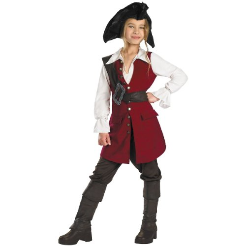 Disguise Disney Pirates Of The Caribbean Elizabeth Pirate Deluxe Girls Costume, X-Large/14-16 for $<!--$39.19-->