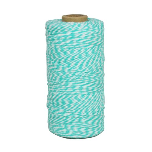 Baker Striped Tie (Dress My Cupcake Baker's Twine String Roll for Gifts and Favors, 240-Yard, Diamond Blue)