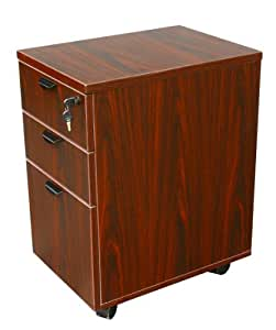 Boss Office Products N148H-M Mobile Pedestal in Mahogany
