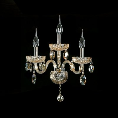 fei Splendid Unique Design Three Light Crystal Wall Sconce Offers Luxury Embellishment by fei Crystal light (Image #1)