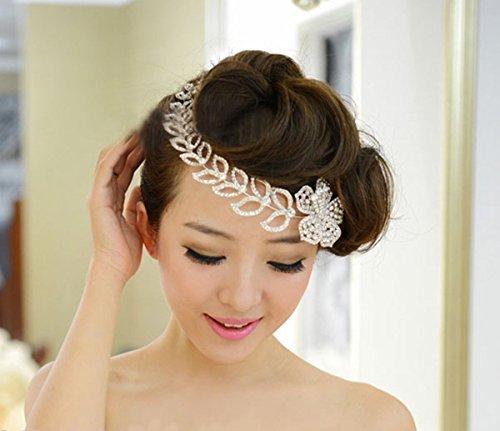Bridal Wedding Bridal Rhinestone Headband Tiara by SHUIWU