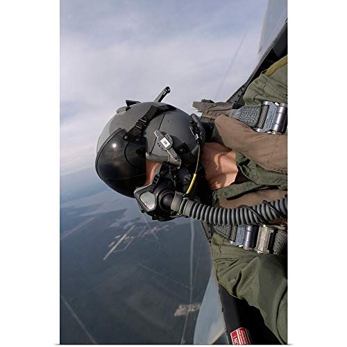 GREATBIGCANVAS Poster Print Entitled Cockpit View of a Pilot Flying an F15 Eagle by Stocktrek Images 20