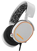 SteelSeries Arctis 5 Legacy Edition, RGB Illumination Gaming Headset, DTS 7.1 Surround for PC, PC/Mac/Playstation 4/Mobile/VR - White