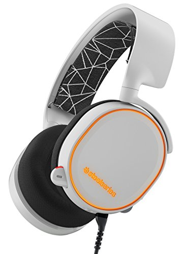 SteelSeries Arctis 5 Legacy Edition, RGB Illumination Gaming Headset, DTS 7.1 Surround for PC, PC/Mac/Playstation 4/Mobile/VR – White