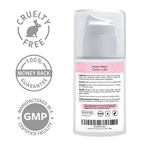 (Bioidentical) Estrogen Estriol Cream. Supplements 175mg of USP Micronized, Bio-Identical Estriol- 3.5oz Pump. for Women During Menopause. Weight Loss, Vaginal Dryness, Wrinkles & PCOS