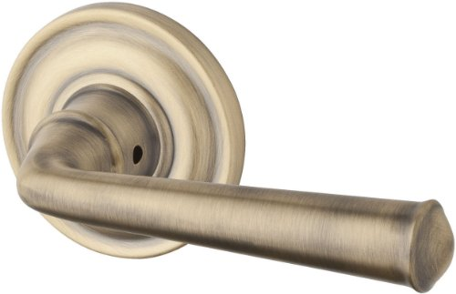 Baldwin PVFEDTRR049 Reserve Privacy Federal with Traditional Round Rose, Matte Brass & Black Finish
