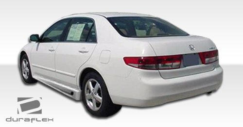 Duraflex Replacement for 2003-2007 Honda Accord 4DR Bomber Side Skirts Rocker Panels - 2 Piece