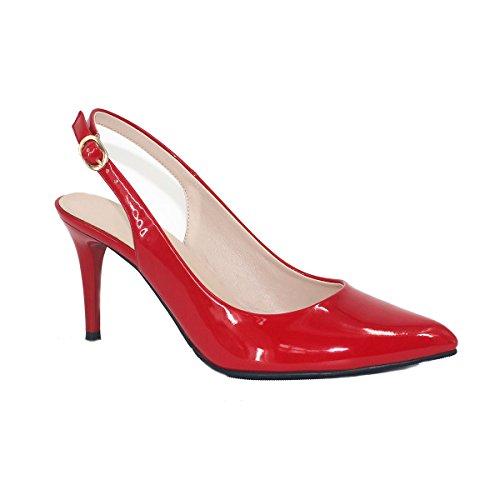 ZAPROMA Comode con donna punta donna da Rosso scarpe punta da a B6wx7q6r