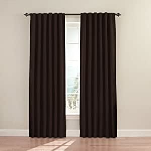 Eclipse Fresno 52 by 84-Inch Blackout Window Curtain (one panel), Espresso