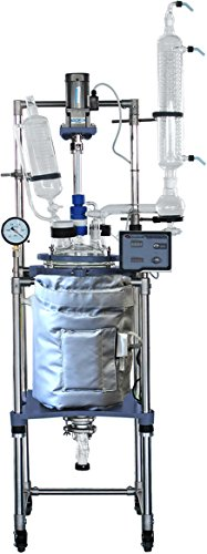 """Across International R50.110 AI R50 Jacketed Glass Reactors with Thermo Insulation Jacket, 50 L, 110V, 60 Hz, 140W, 63"""" H, 20"""" L, 35"""" W"""
