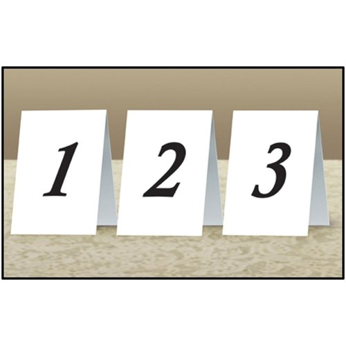 Beistle 57205 12-Pack Numbered Table Cards, 4-1/4-Inch by 3-Inch