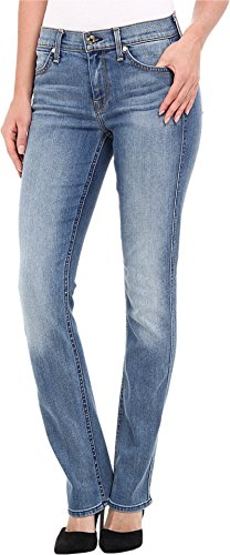 7 For All Mankind Women's The Modern Straight in Slim Illusion Swiss Alps Blue Slim Illusion Swiss Alps Blue Jeans 26