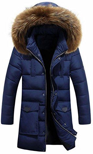 Mid Down 2 UK Faux Parka up Men's Casual Hood Coat Fur Zipper today Long 8aTvqq