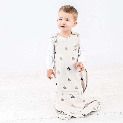 Woolino Baby Sleep Bag Or Sack by 4 Season Merino Wool Wearable Blanket Gown, 2-24 Months, Boats by Woolino (Image #3)