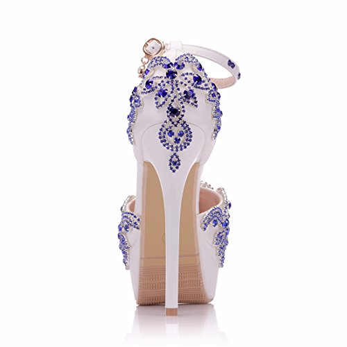 14cm MZ8260 Scarpe MinitooEU Col Tacco Heel Minitoo EU Donna Bianco White 35 7qU8w5Hf