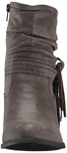 Jellypop Women's Jamine Ankle Bootie Taupe Distress GoM3mm0N