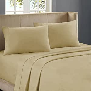Nile Bedding Extra Sumptuous Egyptian cotton Fitted Sheet 21 Inches Deep Pocket 650 TC Solid (Twin , Taupe)