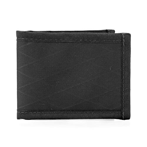 Flowfold Vanguard Bifold Wallet Durable Slim Wallet Front Pocket Wallet, Bifold (Black)