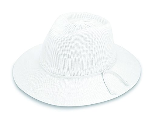 Wallaroo Hat Company Women's Victoria Fedora Sun Hat - White - UPF 50+