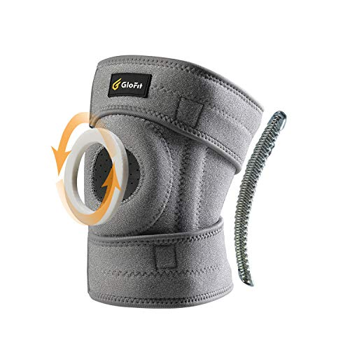 Glofit Adjustable Knee Brace,Open Patella Stabilizer Knee Support, Non-Slip Breathable Compression Neoprene Nylon Sleeve,Bariatric Ligament Protect for Meniscus Tear, ACL,Arthritis,Sports