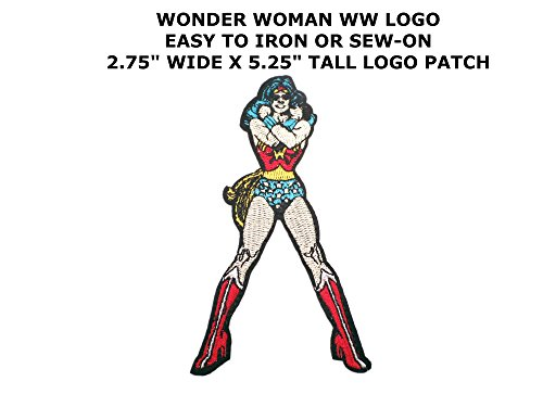 [Athena DC Wonder Woman Logo Easy Iron or Sew-on Embroidered Superhero Cartoon Comics Movie Applique Patch] (Imperial Guard Costume Warhammer 40k)