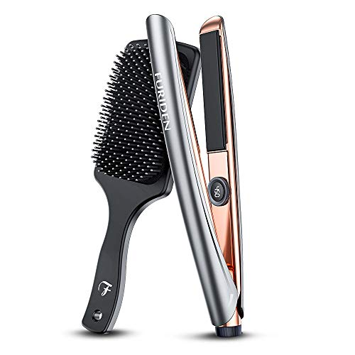 FURIDEN Professional Hair Straightener Flat Iron, Hair Flat Iron Ceramic Professional, Hair Straightener for Curly Thick Hair (Best Straightener For Curly Hair)