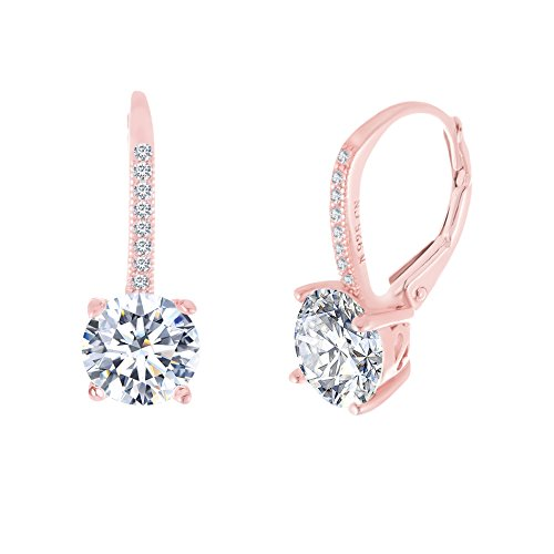 Rose Gold Drop Earrings Amazoncom