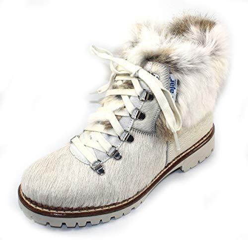 t in White Cow Haircalf/Spot Rabbit Fur - Size 40 M ()