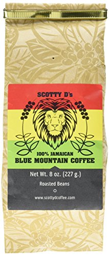 Scotty D's Jamaican Coffee 100% Blue Mountain Coffee- 8 oz. (Medium Roast)(Whole Bean)