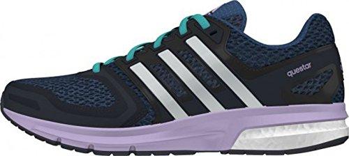 adidas Questar W, Chaussures de Running Compétition Femme Multicolore (Minbleu/Ftwwht/Purglo)