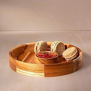 Ellementry-in-Teak-Teak-Wood-Chip-N-Dip-Serving-Bowl-with-Glass-Dip-Bowl-Measures-12-Inch-Diameter-x-2-Inch-Height-Natural