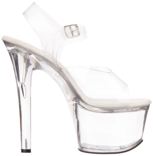 Pleaser Damen Treasure-708 Sandalen Transparent (Clr/Clr)