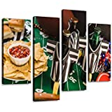 Football Party Canvas Wall Art Hanging Paintings Modern Artwork Abstract Picture Prints Home Decoration Gift Unique Designed Framed 4 Panel