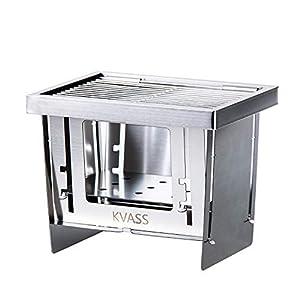 KVASS バーベキューコンロ コンパクト 焚き火台 キャンプ用品 卓上コンロ