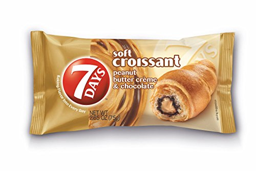 7Days Soft Croissant, Peanut Butter & Chocolate, 2.65 oz (Pack of 6 in single...