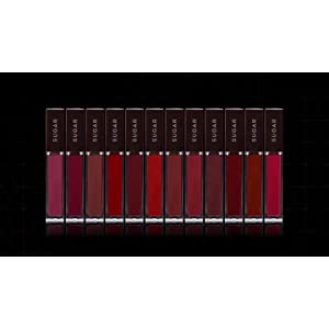 SUGAR Cosmetics Mettle Liquid Lipstick – 04 Sirius (Cherry Red)
